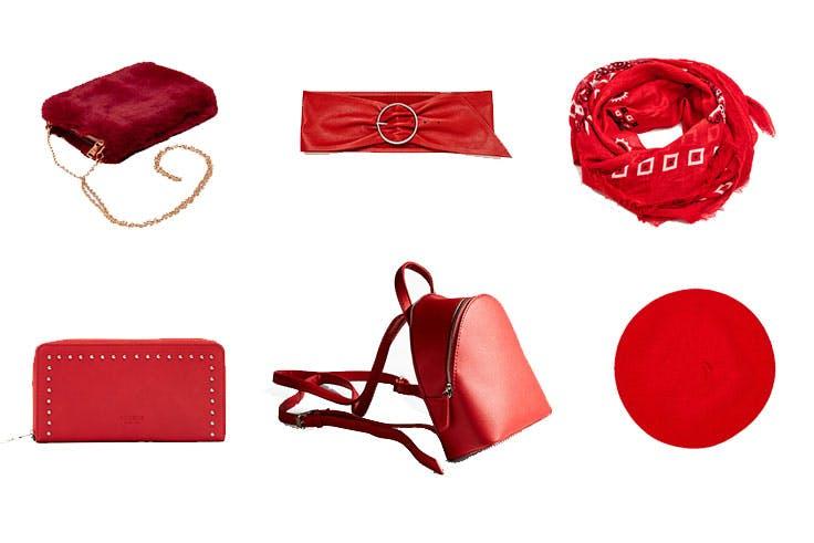 accesorios rojos
