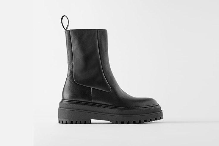 Botas altas negras de Zara